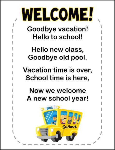 back to school quotes poems quotesgram