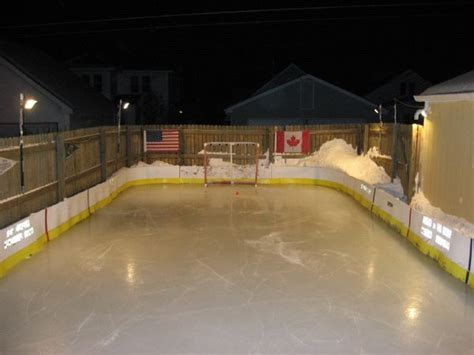 hockey rink in backyard backyard rinks