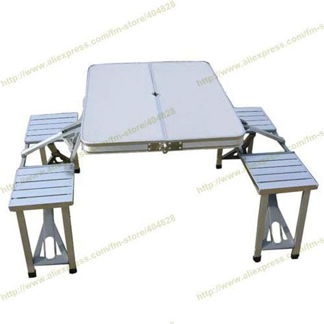 Portable Folding Picnic Table All In One Aluminium Alloy Portable Folding Outdoor Picnic Table With 4 Seats In Folding Tables