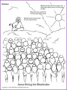 Beatitudes coloring page coloring jesus giving the