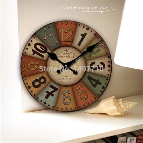 living room wall clocks free shipping european rural countryside retro living room