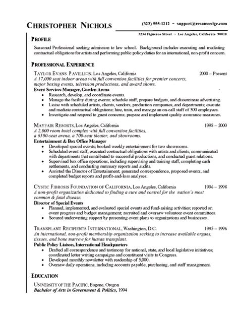 Intern Resume Bullet Points Exle Of Resume Experience