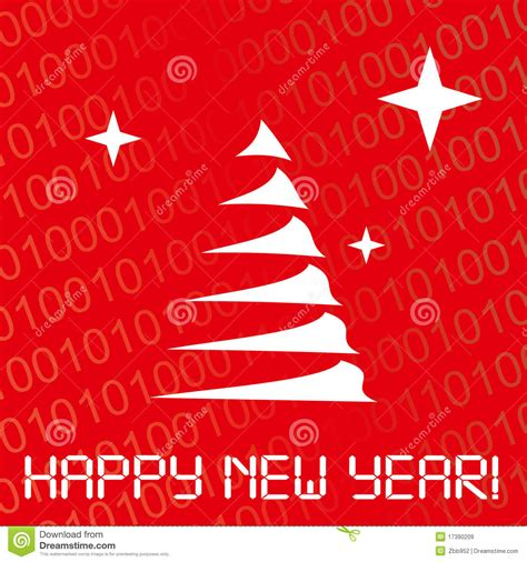 digital new year card royalty free stock images image 17390209