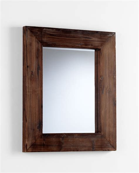 wood wall mirrors decorative ralston square wood wall mirror by cyan design