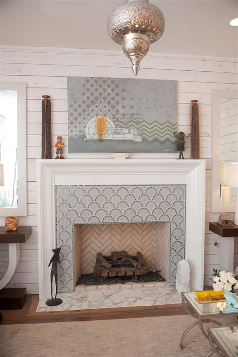 patterned fireplace tiles photo page hgtv