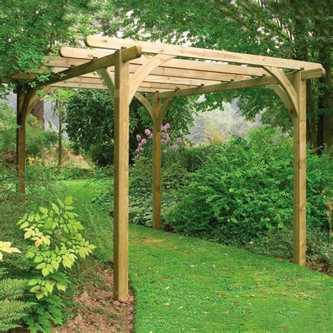 forest garden ultima wooden pergola kit 2 7m internet