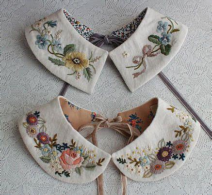 embroidered collars volkskunst trends and blumenstoff on