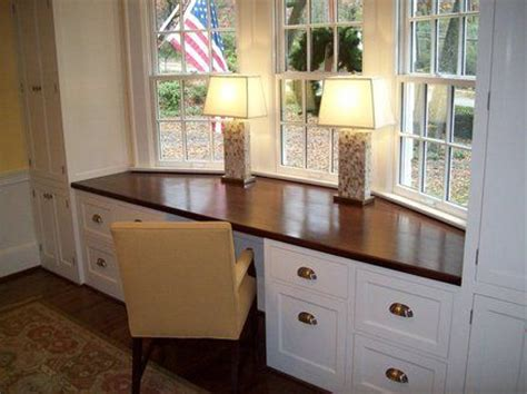 bay window desk this design doubled put it into a corner coming out