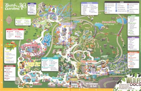 Busch Gardens Park Map by Busch Gardens Ta 2016 Park Map