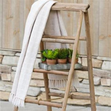 driftwood blanket ladder antique farmhouse