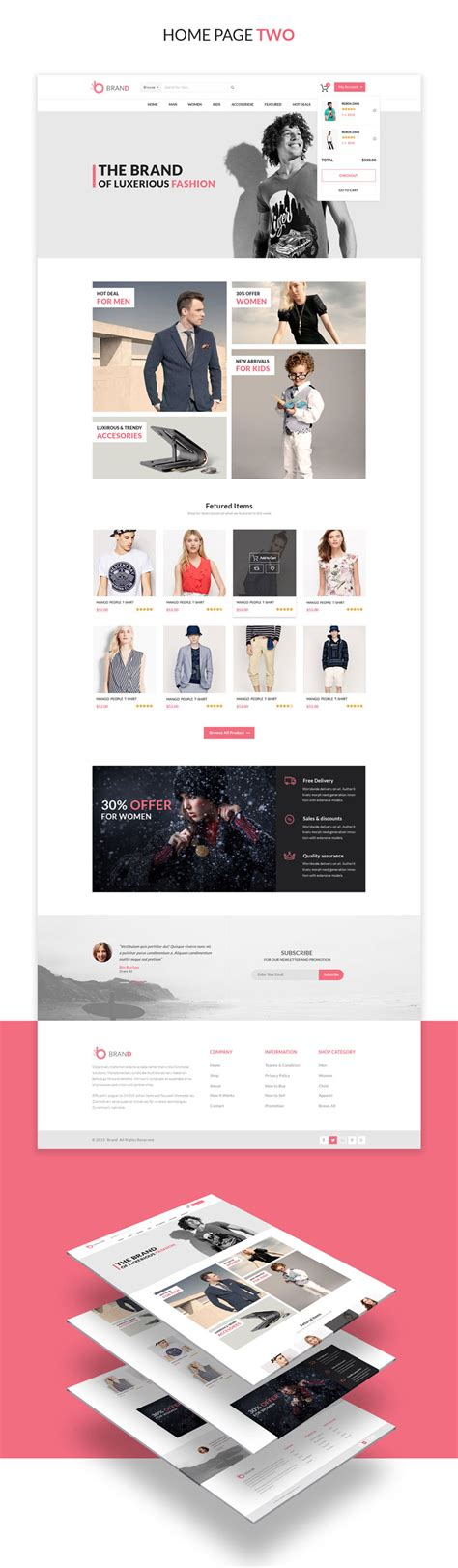 fashion shop template image collections templates design