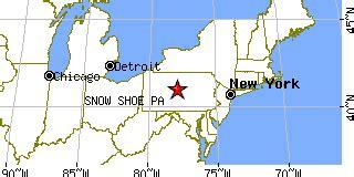 snow shoe pa snow shoe pennsylvania pa population data races