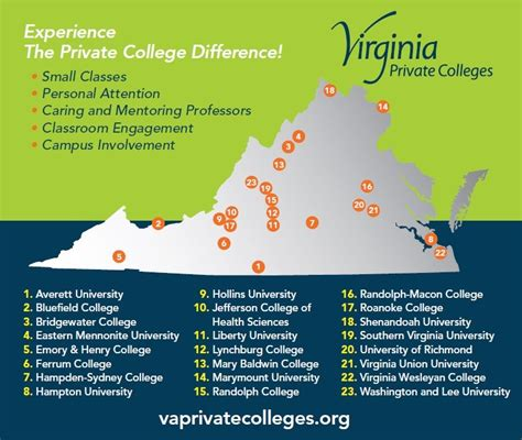 Of Virginia Mba Clubs by Map Of Virginia Colleges And Universities Highlandspringsaca