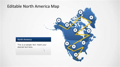 template of america america map template for powerpoint slidemodel