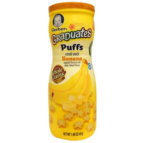 Gerber Puffs gerber graduates puffs cereal snack banana crawler 1