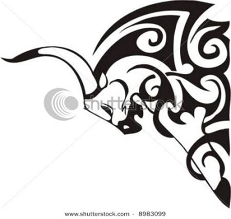 tribal buffalo tattoos tribal buffalo horn design