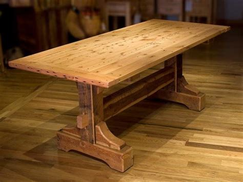 rustic wood dining table plans woodideas
