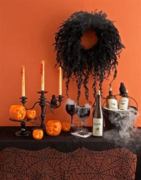 halloween home decorating 43 cool halloween table d 233 cor ideas digsdigs