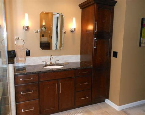 bathroom vanity with linen tower 17 best images about bathroom reno on pinterest faucets