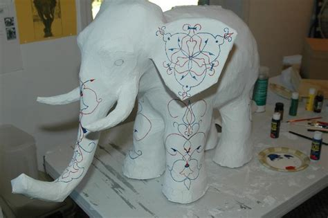 paper mache crafts you to see paper mache elephant by tumpedduck