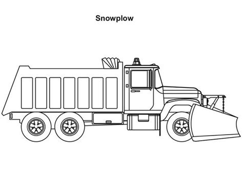 trucks 2 axle snow plow coloring page jpg coloring