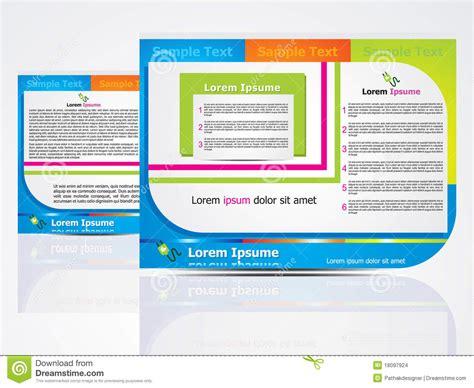 leaflet design concepts abstract brochure design concept stock images image