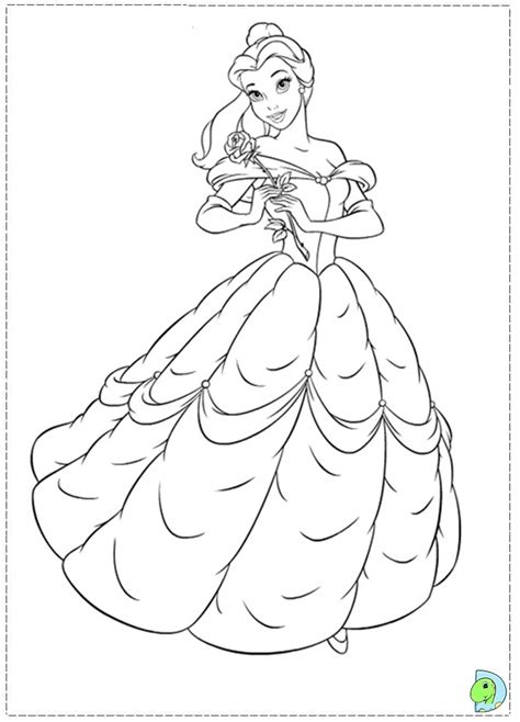 free coloring pages of beauty and the beast rose