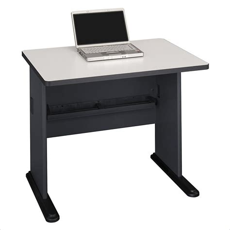 Bush Bbf Series A 36w Desk In Slate Wc8436a 36 Inch Computer Desk