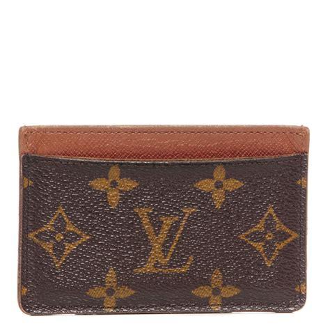 Louis Vuitton Lv Monogram Coklat Tempat Card Holder Pocket Chocolate louis vuitton monogram card holder 89773