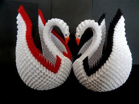 How To Make Origami Swan 3d - best 25 origami swan ideas on simple origami