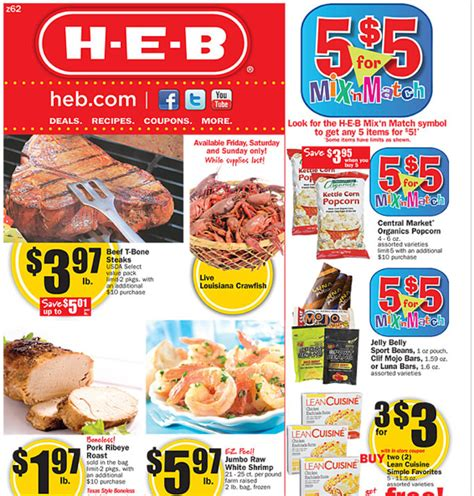 free printable grocery coupons heb heb weekly deals 2 15 2 21