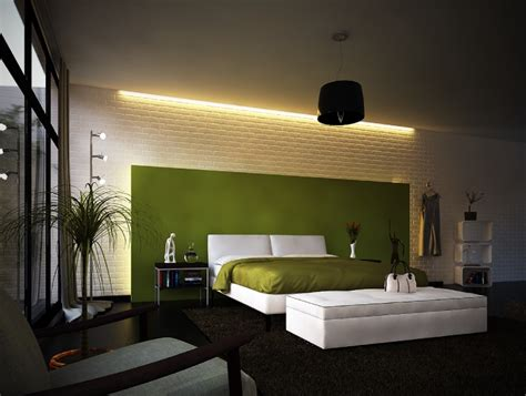 contemporary bedroom decorating ideas green white modern bedroom interior design ideas