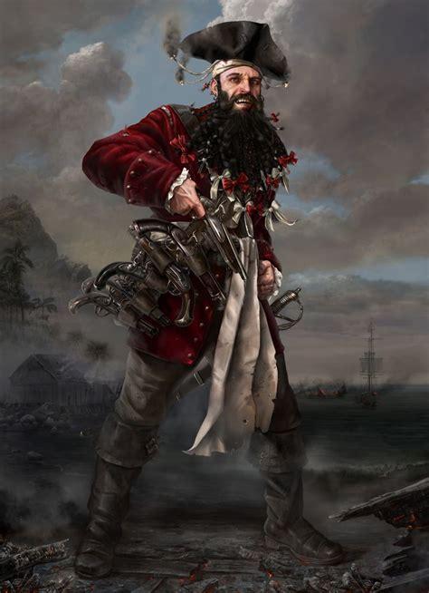 blackbeard pirate black beard art game gn inspiring pinterest artworks