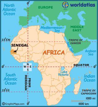geography of senegal, landforms world atlas