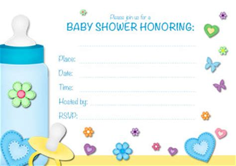 free printable baby shower invitations for boys www proteckmachinery