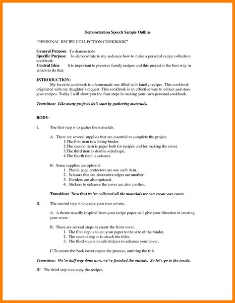 How Do You Write A Resume For Your First Job by 8 Demonstration Speech Outline Biodate Format
