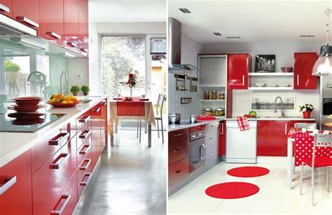 cocinas blancas y rojas cocinas rojas para cocinar con pasi 243 n ideas decoradores