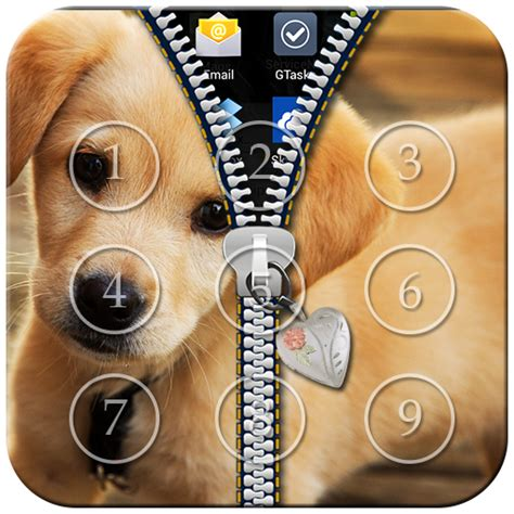 puppy lock puppy zipper lock screen appstore for android