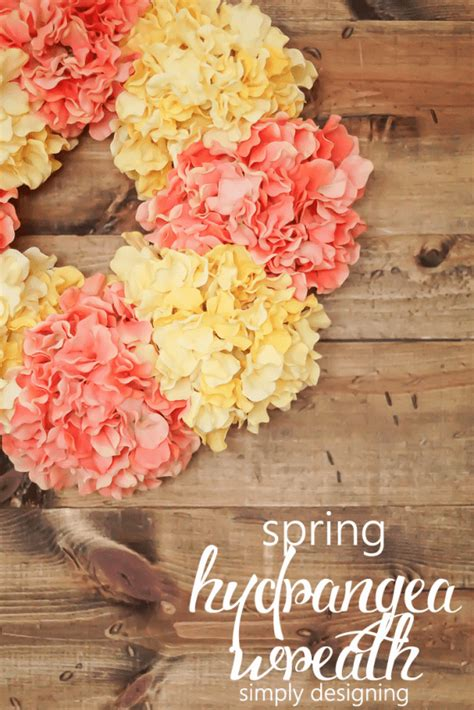 how to make a spring wreath spring hydrangea wreath