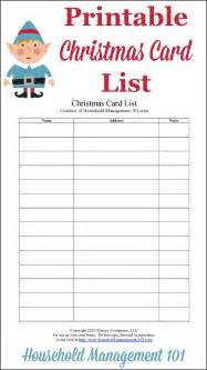 card list printable plan who you ll send cards to this year