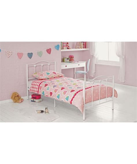 childrens single beds buy princess single bed frame white at argos co uk