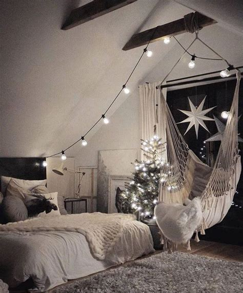bedroom hammocks the hammock chair looks fun and i love the lights