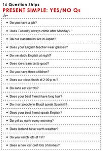 Discussion practice yes no questions present simple 16 question