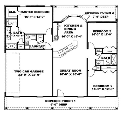 1500 square foot floor plans