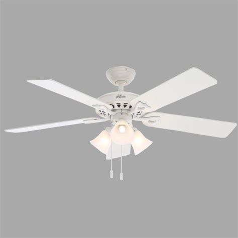 hunter oakhurst white ceiling fan hunter sontera 52 in white ceiling fan 53114 the home depot