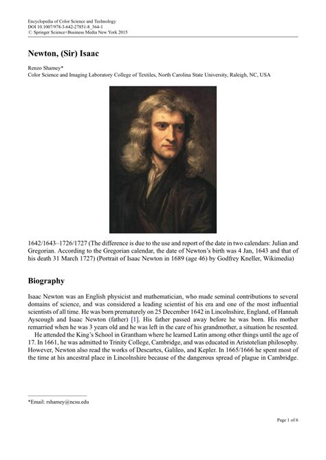 isaac newton biography pdf download newton sir isaac pdf download available