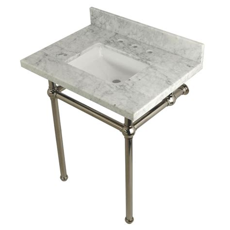 kingston brass console sink kingston brass square sink washstand 30 in console table