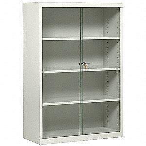 Grainger Glass Door Tennsco Glass Door Bookcase 52h Lt Gray 5uey3 352gllgy Grainger