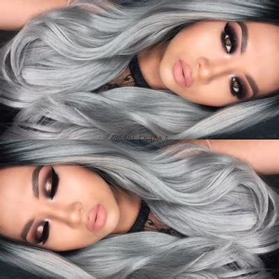 coloring hair gray trend name the shocking granny hair trend hairstylo nails