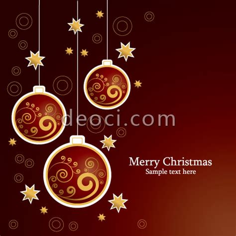 christmas card templates for adobe illustrator vector christmas ball new year card background design